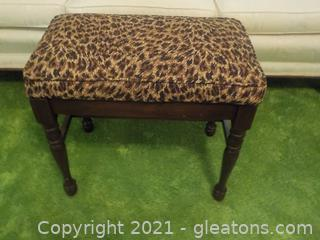 Mahogany Bench W/Cushioned Top Matches Pillows on Lot 6050