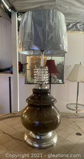 Antique Glass Tall Table Lamp
