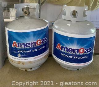 2 Propane Gas Tanks