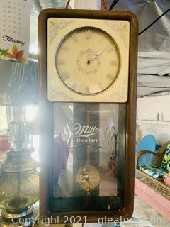 Miller High Life Bar Room Clock