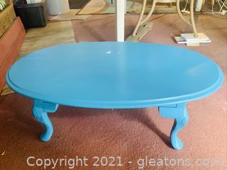 Blue Queen Anne Coffee Table
