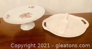 Delightful Cake and Pie Embossed Dishes