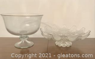 2 Inviting Serving Glass Dishes