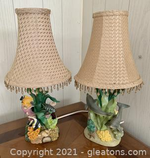2 Colorful Ocean Table Lamps