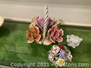 Colorful Capodimante and Dove Vase Lot of 3