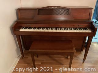 Baldwin Upright Piano & Bench