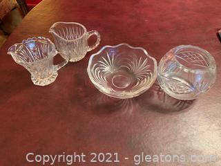 Cut Glass Crystal (Lot of 4)