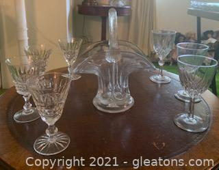 8pc Crystal Dishes