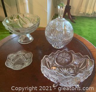 5pc Decorative Crystal Pieces