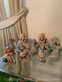 Eight Ceramic Figurines