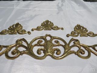 Gold Coated Metal Decor Wall Ornaments