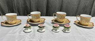 RAWI Cup and Saucer with Salt and Pepper