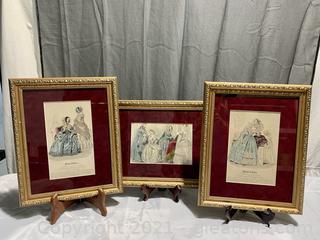 Antique Modes De Paris Fashion Plate Framed Print