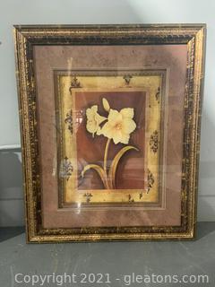 Gold Framed Flower Wall Print