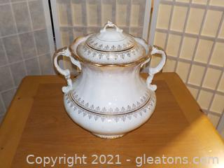 Vintage Laughlin Glazed Pottery Chamberpot