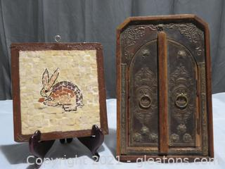 Charming Tiled Rabbit and Unique Picture Frame