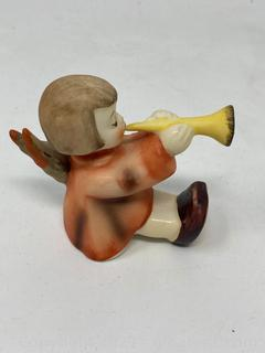 "Hummel Figurine : ""Angel W/Trumpet"" With Box"