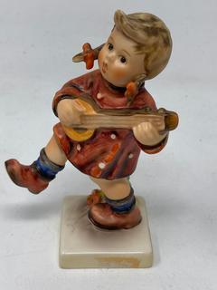 "Hummel Figurine ""Happiness"" Girl with Banjo"