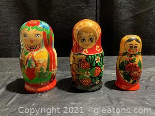 Matryoshka Dolls (Lot of 3)