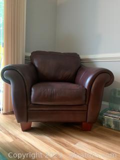 Genuine Leather Arm Chair