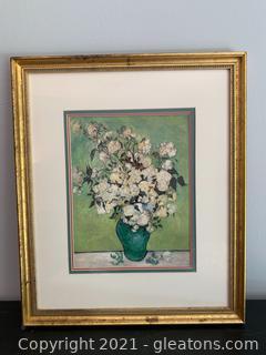 Vase of Roses Print by Vincent Van Gogh