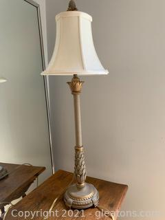 Pineapple Candlestick Lamp - Works