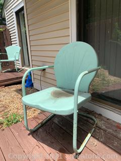 Cool Retro Metal Lawn Chair A