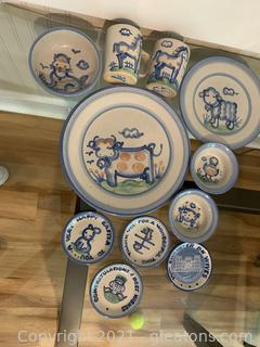 Highly Collectible M. A. Hatley Pottery 11 pieces