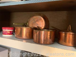 Copper Pots - Some Paul Revere