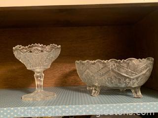 Antique Sawtooth Glass
