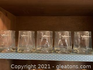 Vintage Johnny Hart Anteater Juice Glasses