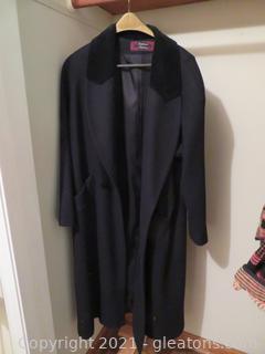 Two XL Women's Jackets, One Coat, Fur Hat