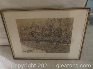 Van Gogh Print-Orchard in Provence