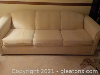 Low Back 3 Seat Formal Sleeper Sofa