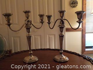 Beautiful Weighted Sterling Candelabra Pair