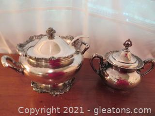 Fantastic Silver Plated Lot Including Soup Tureen and Two Handled, Lidded Server