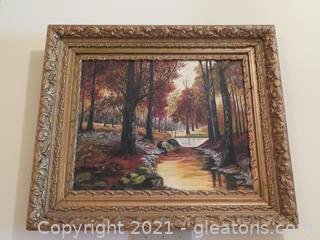 Gorgeous Elk River, Maryland Oil Painting