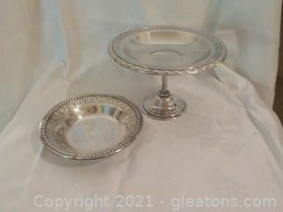 Pair of Lovely Silverplate Servers