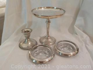 4 Silverplate Pieces Good for Company