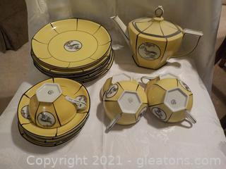 Vintage MZ Altrohley China Luncheon Set from Czechoslovakia