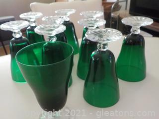 Set of 10 Vintage Anchor-Hocking Tea Glasses (Burple)