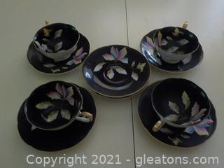 Rare Set of Demitasse Cups and Saucers From  Occupied Japan