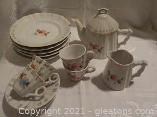 Child's Tea Party Set  Can Not Decipher Maker's Mark
