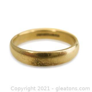 Men's 14kt Yellow Gold Wedding Band