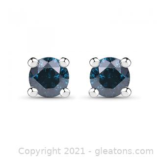 Beautiful Ladies Sterling Silver 0.21 CTW Diamond Designer Earrings