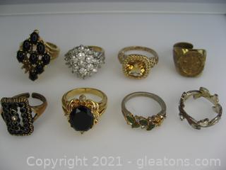 Costume Gold Tone Ring Lot