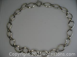 Heavy Open Link Sterling Silver Necklace