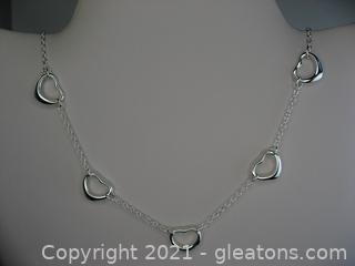 Heart Link Sterling Silver Necklace