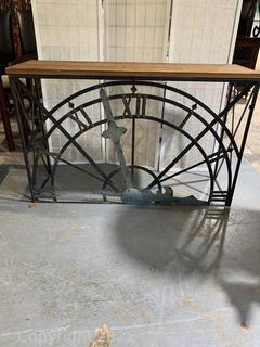 Unique Metal & Wood Console Table