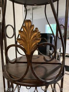 Interesting Metal Etagere / Display Shelf